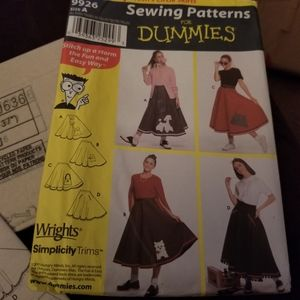 New Sewing Patterns 50's Skirts Simplicity